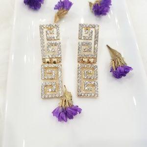 gold righstone earrings
